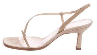 Vera Wang Square-Toe Suede Sandals