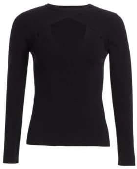 A.L.C. Curtis Rib-Knit Cut-Out Sweater