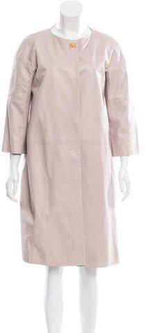 Chloé Chloé Leather Knee-Length Coat