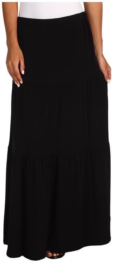 MICHAEL Michael Kors Matte Jersey Maxi Skirt (Black) - Apparel