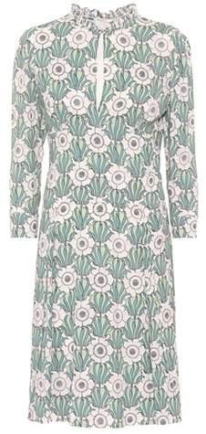 Prada Floral-printed midi dress