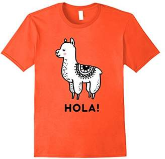 Hola | Cute Vintage Llama Lover Art Gift | Lama T-Shirt