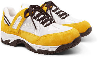 Maison Margiela SMS Suede and Mesh Sneakers - Yellow