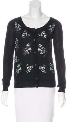 Prada Embellished Wool Cardigan w/ Tags