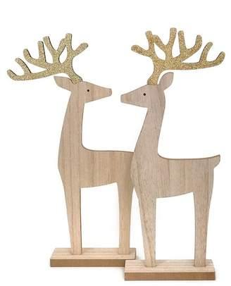 ARTY Glitter Antler Reindeer - Set of 2