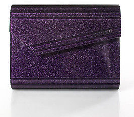 Jimmy Choo Jimmy Choo Dark Purple Sparkle Plastic Candy Clutch Handbag