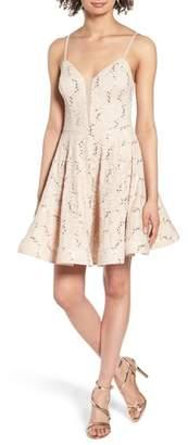 Speechless Sequin Lace Skater Dress