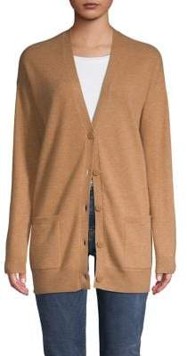 Lord & Taylor Button-Front Cashmere Cardigan