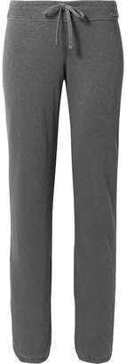 James Perse Genie Supima Cotton-terry Track Pants - Dark gray