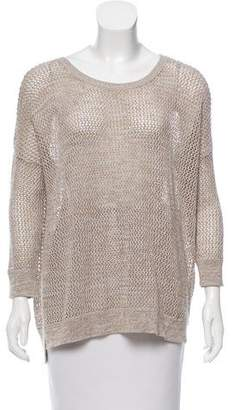 Cotton by Cashmere Oversize Open-Knit Sweater