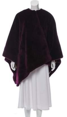 Emporio Armani Oversized Faux Fur Shawl Purple Oversized Faux Fur Shawl