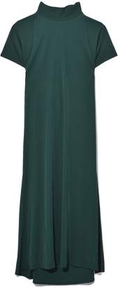 Rosetta Getty Tie Neck Drape Back Dress in Pine