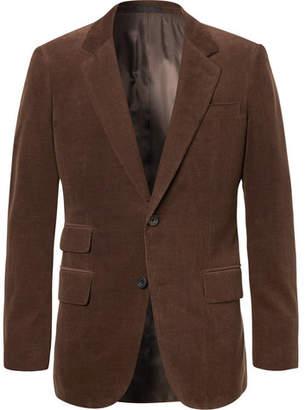 Kingsman Brown Slim-Fit Stretch-Cotton And Cashmere-Blend Corduroy Suit Jacket