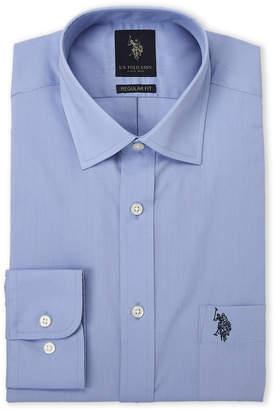 U.S. Polo Assn. Ice Blue Regular Fit Dress Shirt