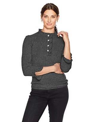 Lark & Ro Amazon Brand Women's Sweaters Ruffle Cashmere Sweater
