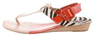 Diane von Furstenberg Leather Thong Sandals