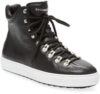 DSQUARED2 Vitello High-Top Sneaker