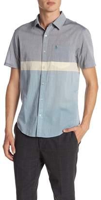 Original Penguin Short Sleeve Colorblock Lawn Slim Fit Shirt