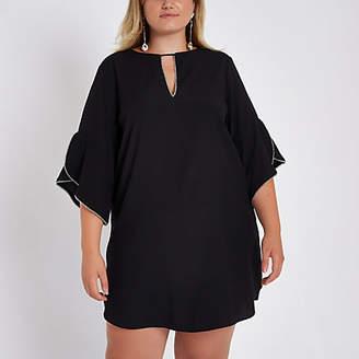River Island Plus frill sleeve mini dress