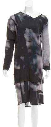 Zero Maria Cornejo Silk Abstract Dress