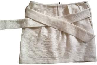 Ikks Ecru Wool Skirt for Women