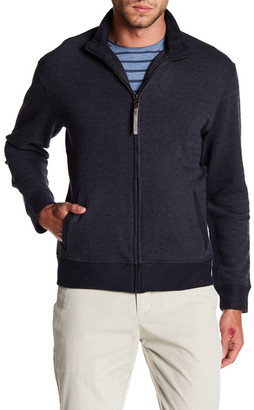 Billy Reid Jacquard Knit Zip Track Jacket $185 thestylecure.com