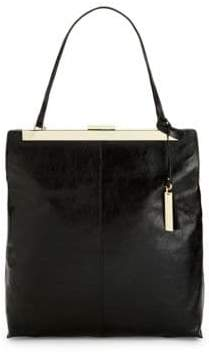 Vince Camuto Leather Frame Tote