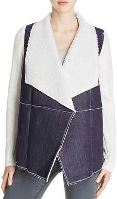 Design History Knit Sleeve Faux Shearling Jacket $136 thestylecure.com