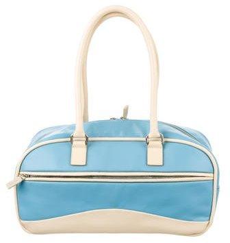 Miu MiuMiu Miu Bicolor Leather Bowler Bag
