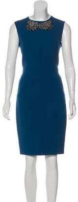 Jason Wu Embellished Wool Dress Blue Embellished Wool Dress