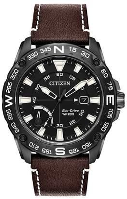 Citizen Men's Eco-Drive PRT Black IP Strap Watch, 44mm