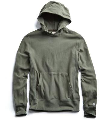Todd Snyder + Champion Terry Popover Hoodie in Olive Grove