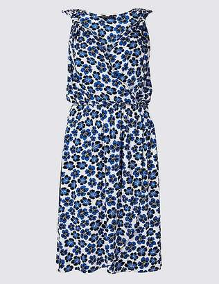 Marks and Spencer Floral Print Wrap Beach Dress