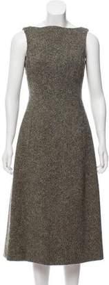Isaac Mizrahi Midi Tweed Dress