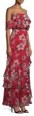 BCBGMAXAZRIA Off-The-Shoulder Ruffle Dress