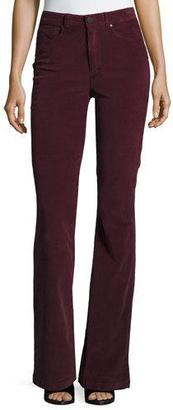 Paige Denim High Rise Bell Canyon Corduroy Pants, Midnight Plum $189 thestylecure.com