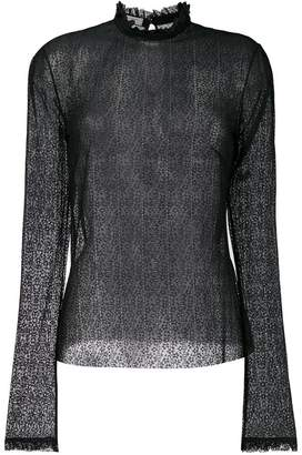 Philosophy di Lorenzo Serafini floral lace sheer blouse