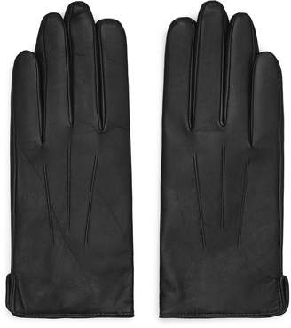 Reiss CHRISTA LEATHER GLOVES Black