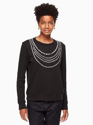 Kate Spade Pearl embellished sweatshirt