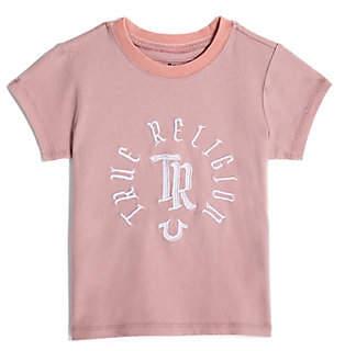 True Religion TODDLER/BIG KIDS GIRLS EMBROIDERED LOGO TEE
