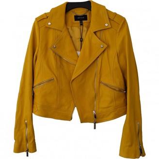 Karen Millen Yellow Leather Jacket for Women