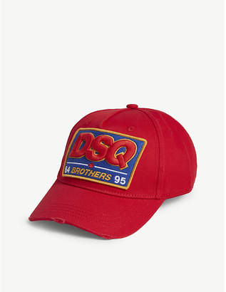 DSQUARED2 Acc Logo brothers badge cotton baseball cap