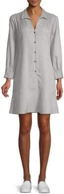 Halston H Pintuck Shirt Dress