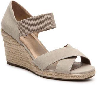 Women's Strut Wedge Sandal -Beige $60 thestylecure.com