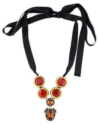 Marni Resin & Crystal Collar Necklace