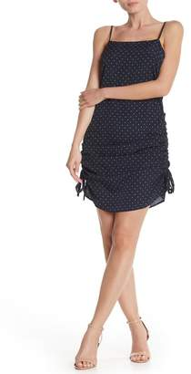 J.o.a. Polka Dot Ruched Side Mini Dress