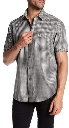 James Campbell Roper Plaid Short Sleeve Regular Fit Shirt