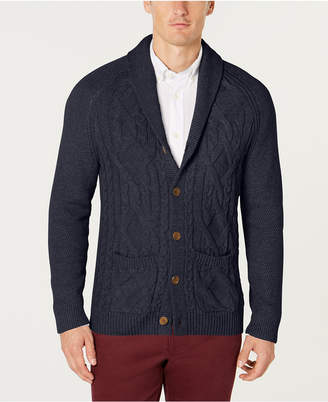 Tasso Elba Men's Shawl Collar Cable Knit Cardigan
