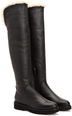 Aquatalia Kiara Waterproof Leather Over-The-Knee Boot
