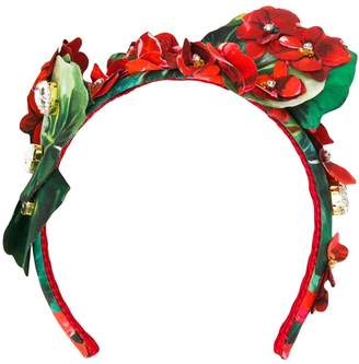 Dolce & Gabbana embellished floral hair band